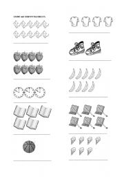 english worksheets counting objects 1 10 and identify the oobject. Black Bedroom Furniture Sets. Home Design Ideas