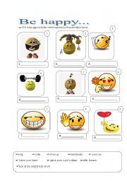 English worksheet: Be happy!