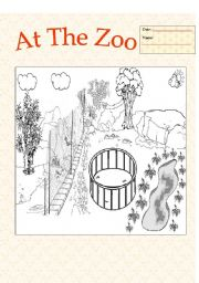 English Worksheets: My Zoo