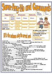 English Worksheet: Some-Any-No and Compounds