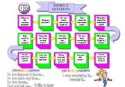 English Worksheets: Indirect Questions Board Game