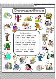 English Worksheets: Occupations 2