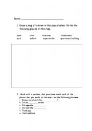 English Worksheets: Mapping Skills