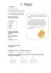 English Worksheets: A GENIUS