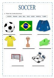 english worksheets soccer vocabulary. Black Bedroom Furniture Sets. Home Design Ideas