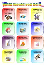 What would you do if... 2/2. Speaking cards, Second conditional. Editable!