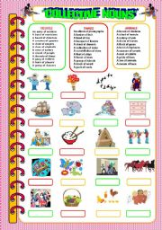 English Worksheets: Collective Nouns!