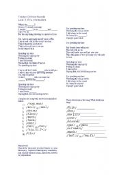 English Worksheet: song with phonetic symbols