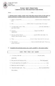 English worksheet: She must be in love.