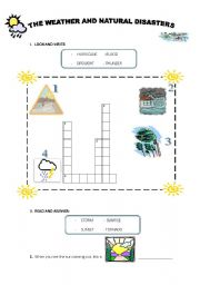 English worksheet: THE WEATHER AND NATURAL DISASTERS