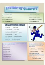 English Worksheet: Adverbs of quantity