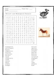 extinct and endangered animals word search. Black Bedroom Furniture Sets. Home Design Ideas