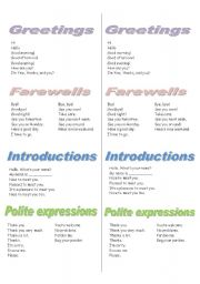 English Worksheets: Greetings and expressions