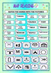 Worksheet MAP READINGMATCHING - Map reading for children