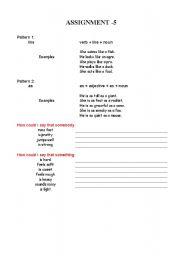 English Worksheets: simile
