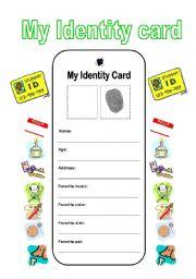 My identity card
