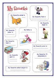 English Worksheets: My English Portfolio 3 (My favourites)