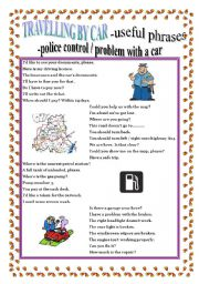 English Worksheets: TRAVELLING BY CAR - useful phrases