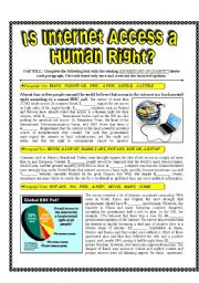 Is the Internet a Human Right + Quantifiers