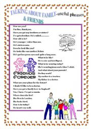 FAMILY & FRIENDS - useful phrases