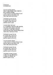 English Worksheets: SONG: The Reason by Hoobastank