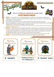 English Worksheets: halloween activities