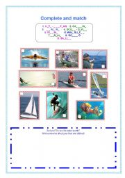 do you enjoy water sports? (matching activity and production)