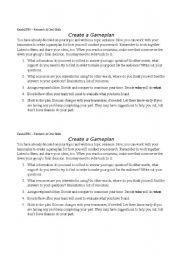 English Worksheets: Create a Gameplan
