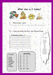English Worksheets: the date