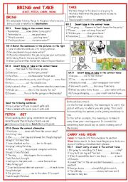 English Worksheet: Bring & Take