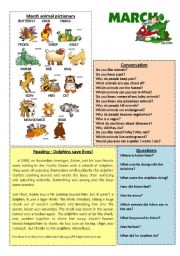 English Worksheet: March worksheet 3/12 (talk, read, discuss)