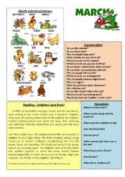 English Worksheets: March worksheet 3/12 (talk, read, discuss)