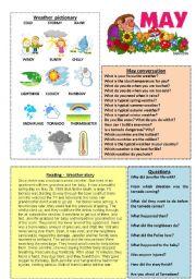 English Worksheets: May worksheet 5/12 (talk, read, discuss)