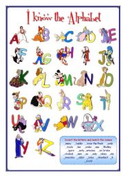 English Worksheets: Portfolio 5 (I know the alphabet) Keys included