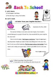 English Worksheets: A letter from your English teacher