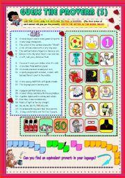English Worksheet: ENGLISH PROVERBS 3