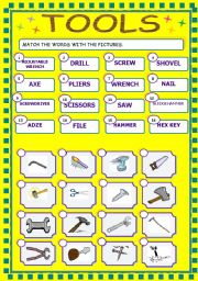 A Matching Activity About Tools