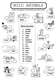 wild animals esl worksheet by lamejor. Black Bedroom Furniture Sets. Home Design Ideas
