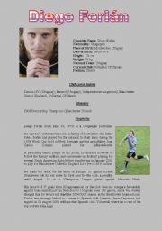 English Worksheets: Diego Forlán