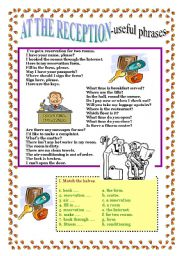 English Worksheets: AT THE RECEPTION - useful phrases