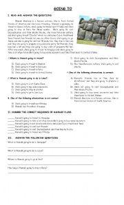 English Worksheet: GOING TO - READING