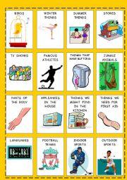 English Worksheet: BEAT THE CLOCK - vocabulary game