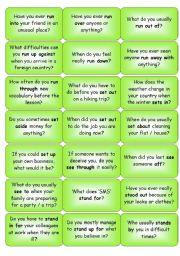 Phrasal Verbs Question Cards
