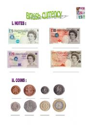 British money and going shopping