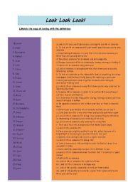 English Worksheets: Look Look Look!