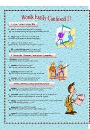 English Worksheet: words easily confused 11