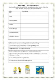 Worksheets Bullying Worksheet english worksheets bullying page 23 roles