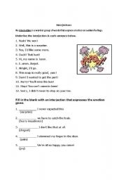 Worksheet Interjections Worksheet english worksheets interjection worksheet worksheet