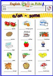 a/an or some - worksheet by B.Burcu Temizsu