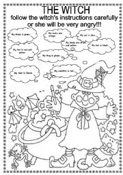English Worksheets: THE WITCH